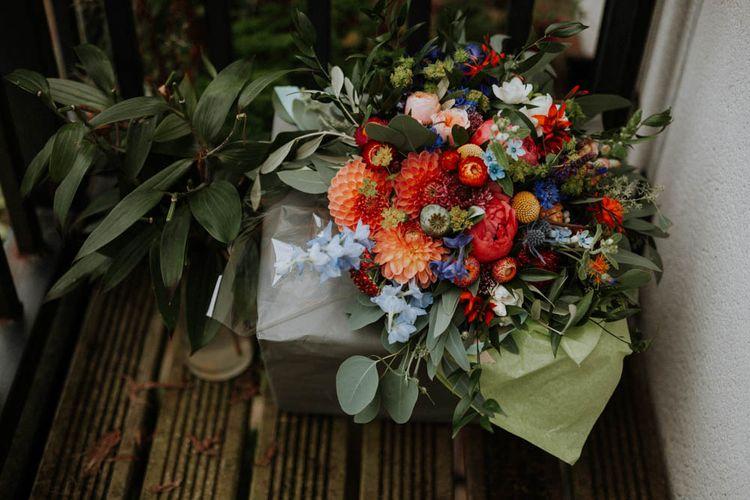 Wedding Bouquet | Colourful DIY Barn Wedding at The Manor Barn, Cambridge | Meghan Lorna Photography