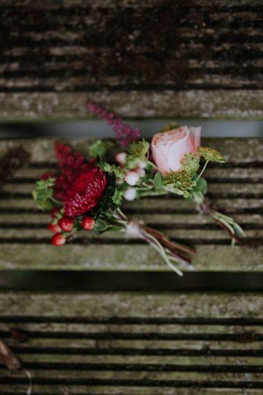 Buttonholes | Colourful DIY Barn Wedding at The Manor Barn, Cambridge | Meghan Lorna Photography