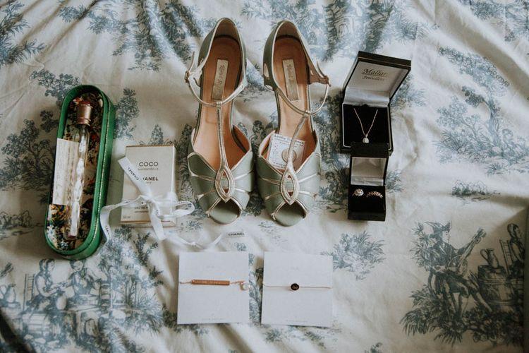 Rachel Simpson Mimosa Bridal Shoes | Colourful DIY Barn Wedding at The Manor Barn, Cambridge | Meghan Lorna Photography