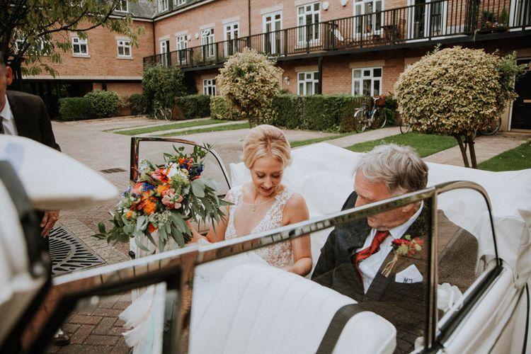 Bridal Entrance | Colourful DIY Barn Wedding at The Manor Barn, Cambridge | Meghan Lorna Photography