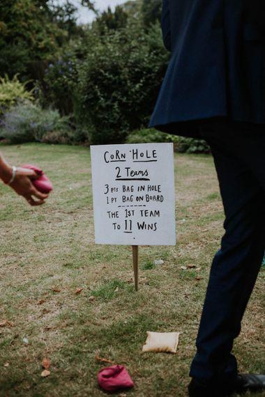 Garden Games | Colourful DIY Barn Wedding at The Manor Barn, Cambridge | Meghan Lorna Photography