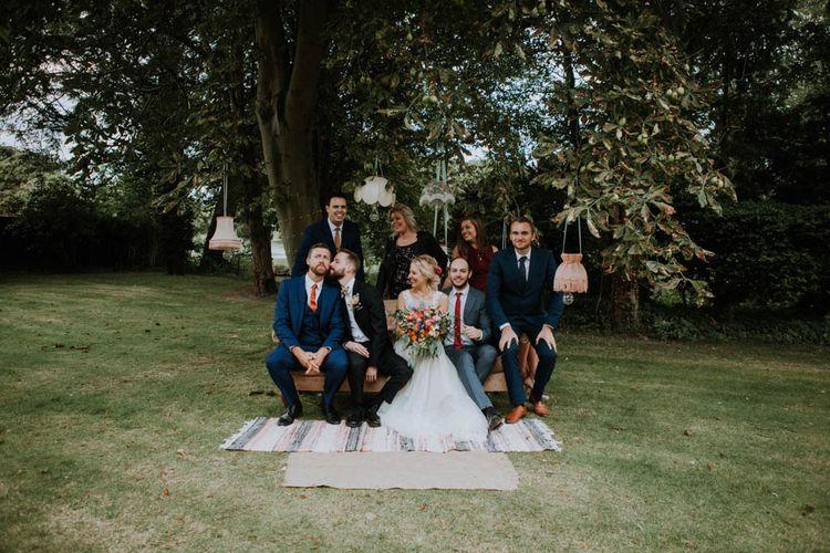 Wedding Guests | Colourful DIY Barn Wedding at The Manor Barn, Cambridge | Meghan Lorna Photography
