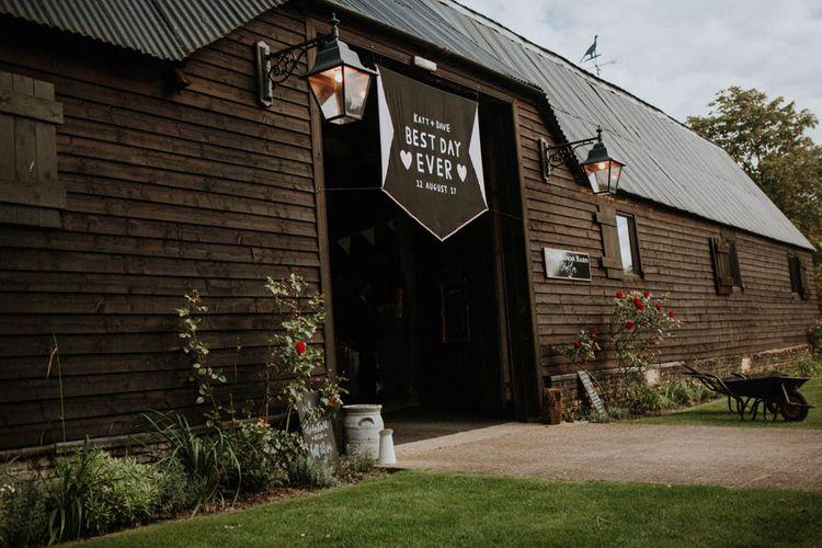 Wedding Banner | Colourful DIY Barn Wedding at The Manor Barn, Cambridge | Meghan Lorna Photography