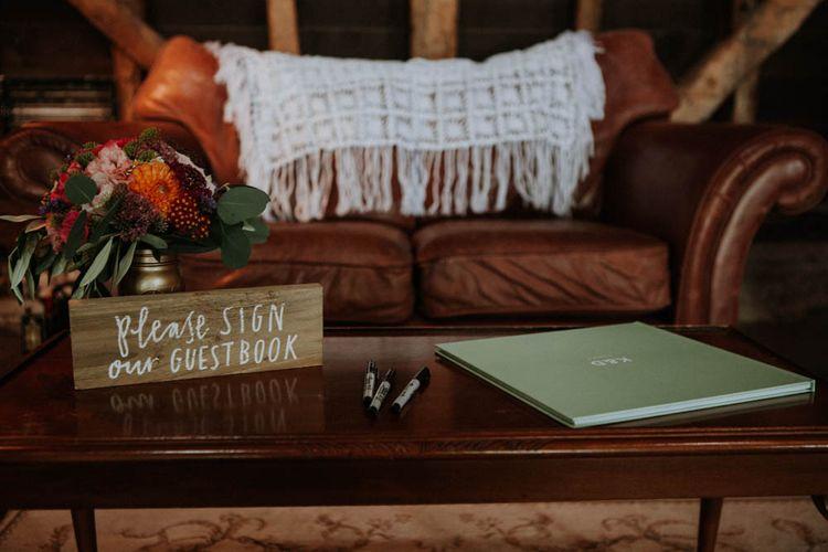 Guest Book | Colourful DIY Barn Wedding at The Manor Barn, Cambridge | Meghan Lorna Photography