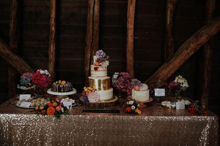 Dessert Table | Colourful DIY Barn Wedding at The Manor Barn, Cambridge | Meghan Lorna Photography