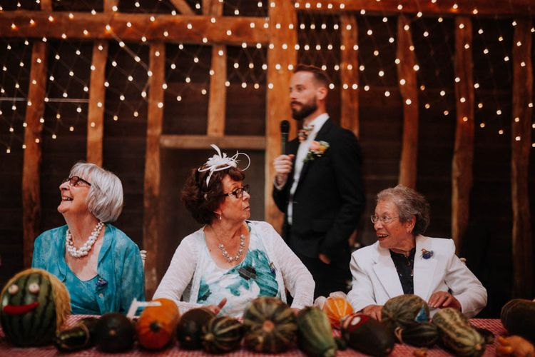 Wedding Speeches | Colourful DIY Barn Wedding at The Manor Barn, Cambridge | Meghan Lorna Photography