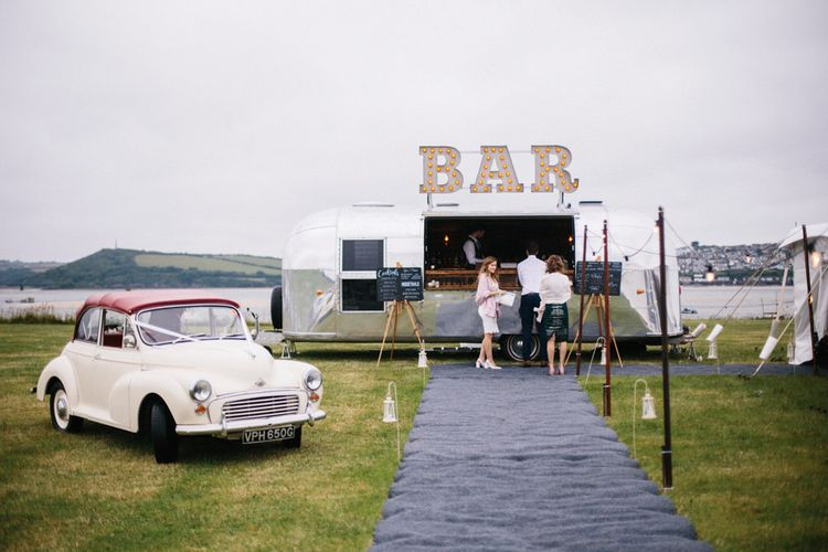 The Buffalo Bar Wedding & Event Cocktail Bar // Coco By Anna Campbell For A Coastal Marquee Wedding In Cornwall With Styling By The Artful Event Co And Prop Hire Inspire Hire With Film By Baxter & Ted And Images From A Thing Like That