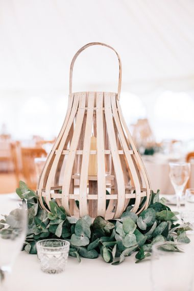 Lantern Table Centre Pieces // Powder Blue Coast Bridesmaids Dresses // Coco By Anna Campbell For A Coastal Marquee Wedding In Cornwall With Styling By The Artful Event Co And Prop Hire Inspire Hire With Film By Baxter & Ted And Images From A Thing Like That