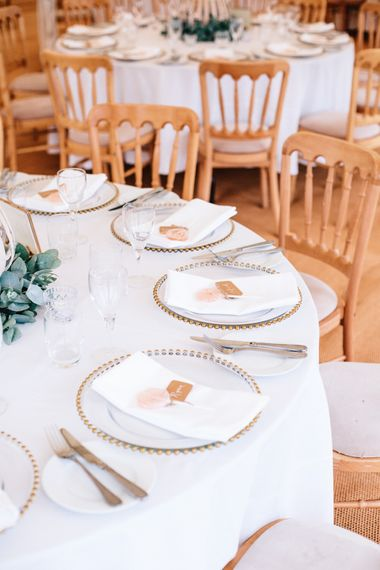 Marquee Wedding Decor // Coco By Anna Campbell For A Coastal Marquee Wedding In Cornwall With Styling By The Artful Event Co And Prop Hire Inspire Hire With Film By Baxter & Ted And Images From A Thing Like That