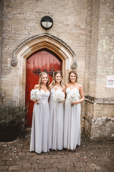 Pale Grey Bridesmaids Dresses From Oasis