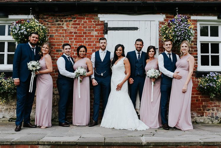 Wedding Party | Cooling Castle Barn Wedding | Michelle Cordner Photography