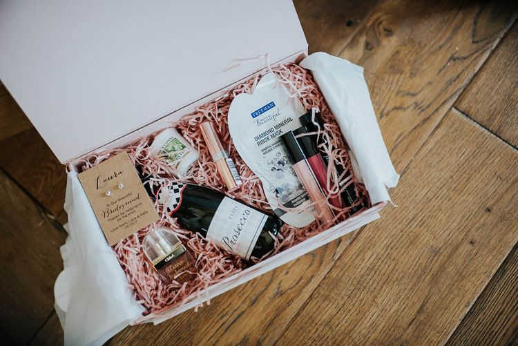 Bridesmaids Thank You Gift Box | | Cooling Castle Barn Wedding | Michelle Cordner Photography