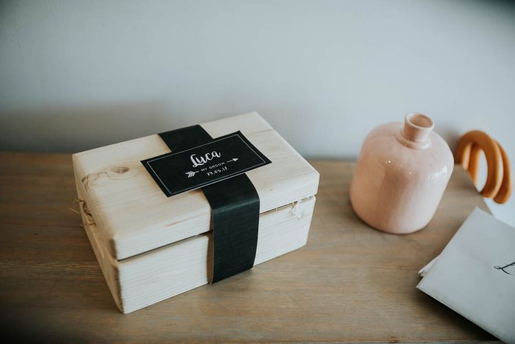 Grooms Gift Box | | Cooling Castle Barn Wedding | Michelle Cordner Photography