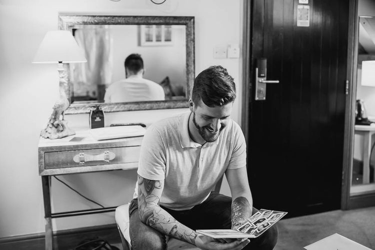 Groom Getting Ready | | Cooling Castle Barn Wedding | Michelle Cordner Photography