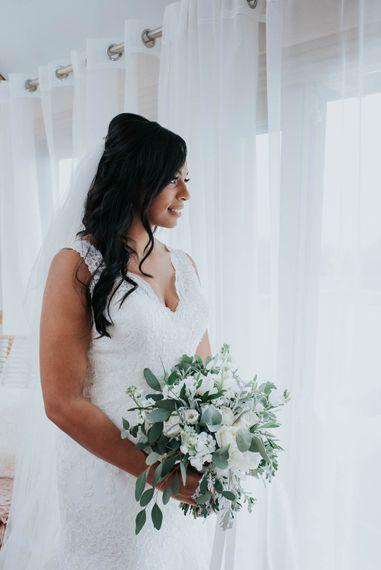 Bride in Mori Lee Wedding Dress | Cooling Castle Barn Wedding | Michelle Cordner Photography
