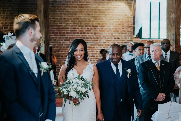 Wedding Ceremony | Bride in Mori Lee Gown | Cooling Castle Barn Wedding | Michelle Cordner Photography