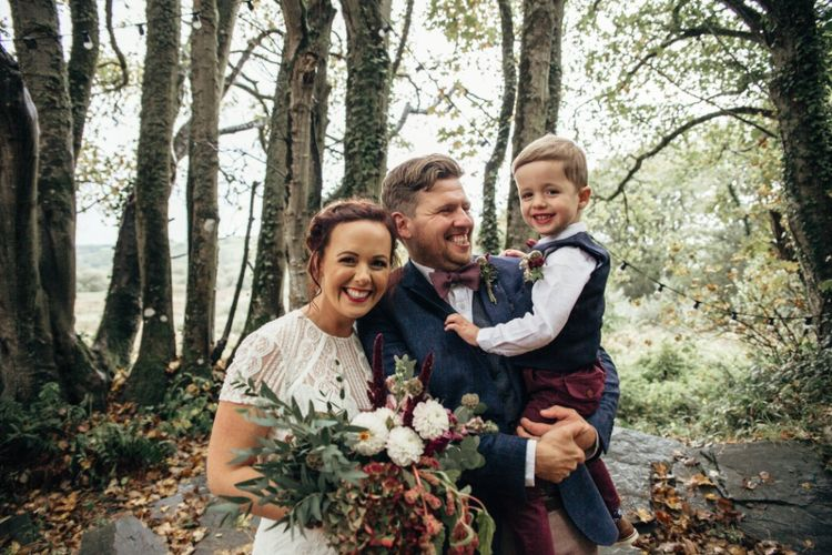 Family | Bride in Leora Watters Wtoo Gown | Groom in Ted Baker Chinos & Reiss Waistcoat & Blazer | Bohemian Tipi Wedding Weekend at Fforest, Wales | Naomi Jane Photography