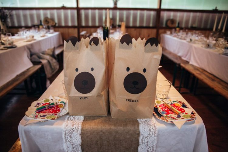 Childrens Goodie Bags | Bohemian Tipi Wedding Weekend at Fforest, Wales | Naomi Jane Photography