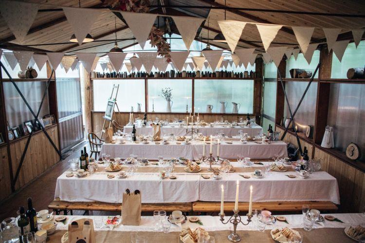 Reception Decor | Bohemian Tipi Wedding Weekend at Fforest, Wales | Naomi Jane Photography
