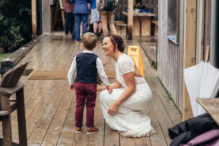 Mother & Son | Bride in Watters Wtoo Lenora Gown | Bohemian Tipi Wedding Weekend at Fforest, Wales | Naomi Jane Photography