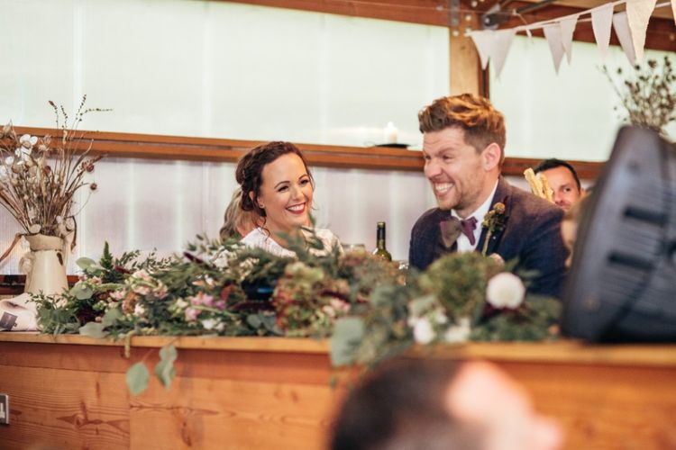 Speeches | Bride in Watters Wtoo Lenora Gown | Groom in Ted baker & Reiss | Bohemian Tipi Wedding Weekend at Fforest, Wales | Naomi Jane Photography
