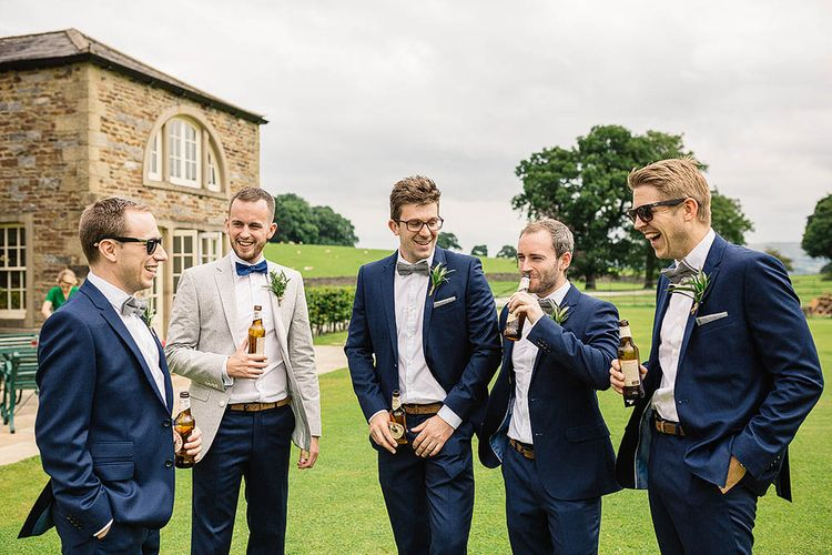 Groomsmen in French Connection Suits