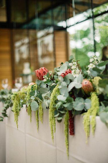 Greenery & Protea Floral Arrangement