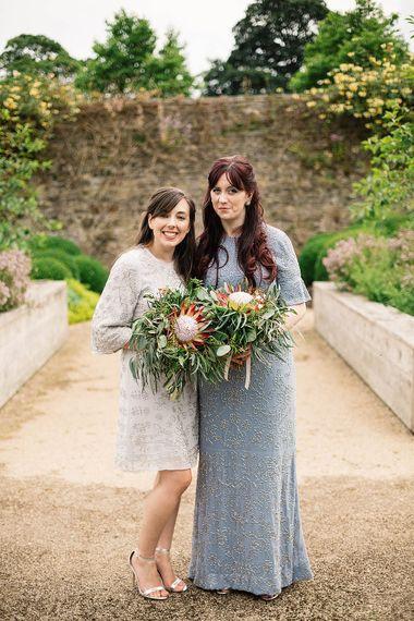 Bridesmaids in Needle & Thread Dresses