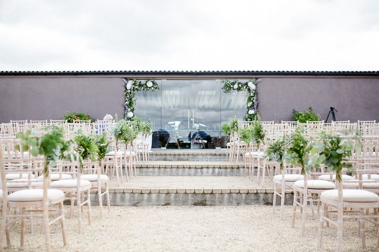 Yolan Cris Bride For A Stylish Boho Wedding At Axnoller Dorset Floral Arch Jennifer Poynter With Images From Lydia Stamps Photography