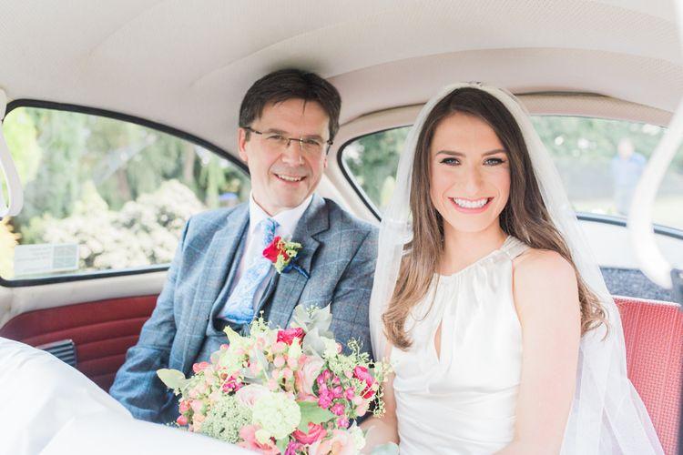 Bride in Amanda Wakeley