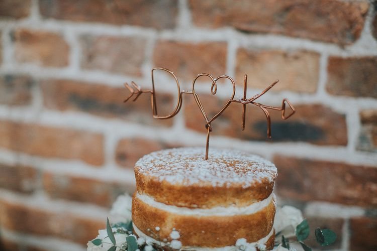 Copper Wire Cake Topper For Wedding
