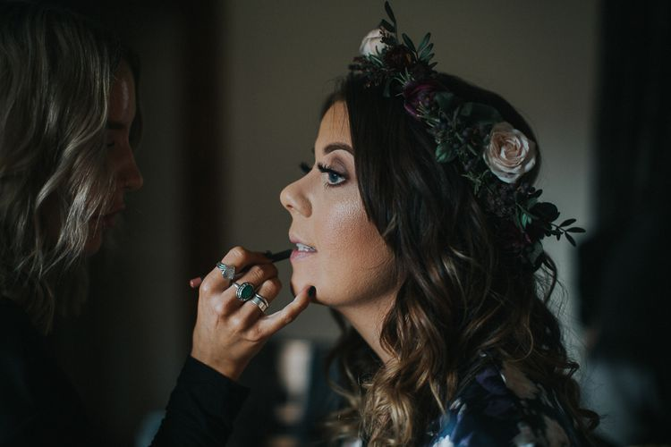 Bride Getting Ready For Wedding Day | Image By Emma Maddocks Photography