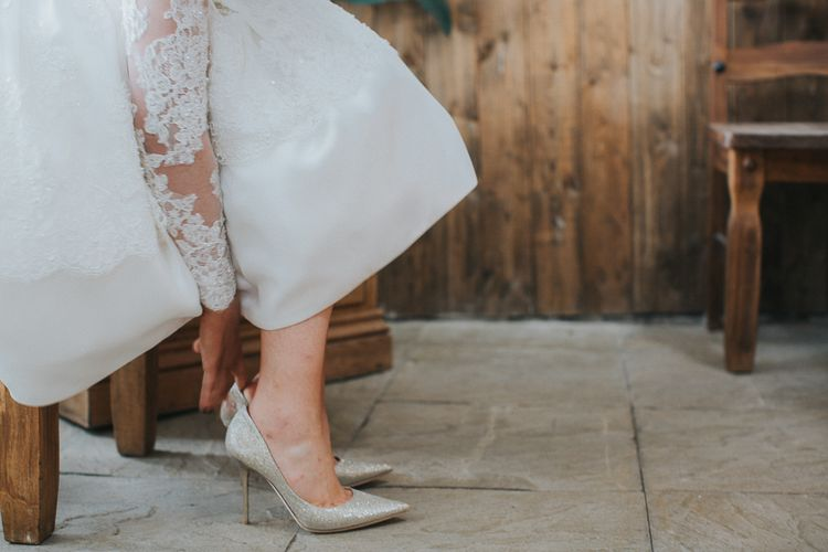 Bride In Jimmy Choo Shoes