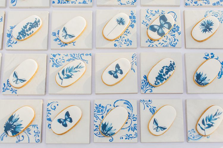 Pretty Blue Iced Biscuits
