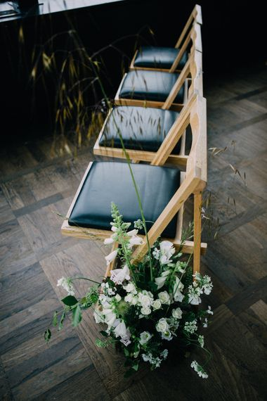 Aisle Lined With Flowers