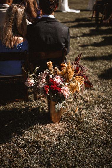 Wild Flower Aisle Decor   Outdoor Wedding at Claxton Farm in Weaverville, North Carolina   Benjamin Wheeler Photography