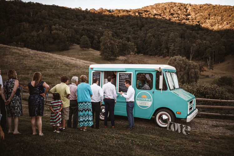 Ice-Cream Truck   Outdoor Wedding at Claxton Farm in Weaverville, North Carolina   Benjamin Wheeler Photography