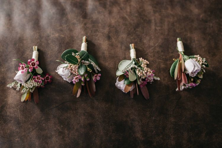 Pink Buttonholes For Wedding