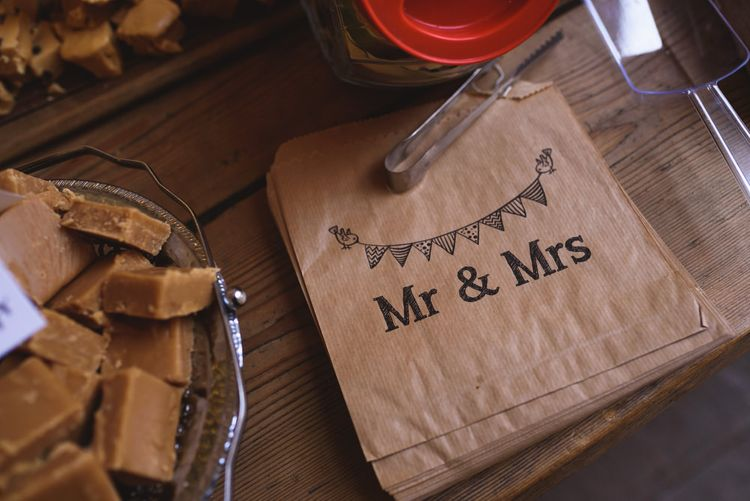 Mr & Mrs Brown Paper Bags for Sweet Table