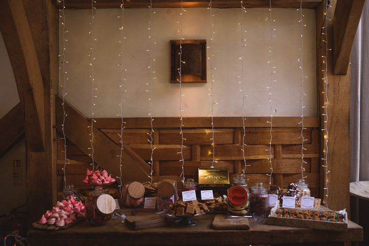 Dessert, Cake, Sweet Table with Fairy Lights Backdrop
