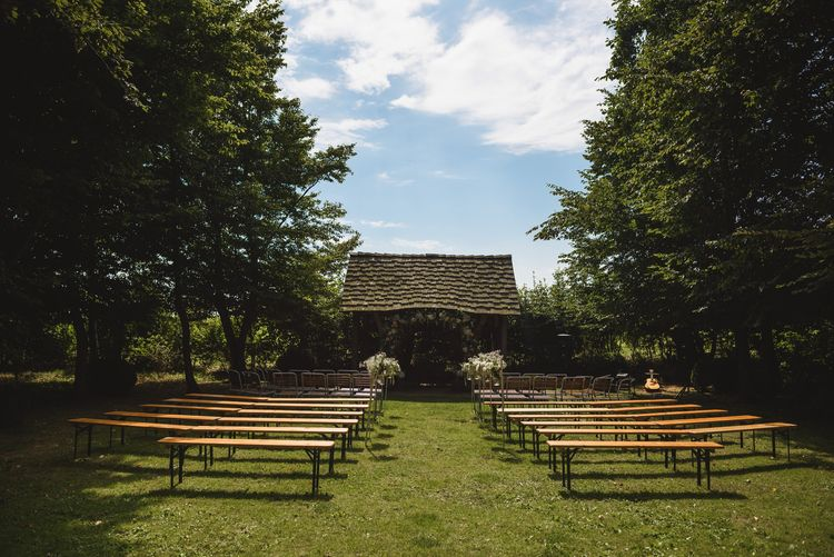 Outdoor Ceremony at Cripps Barn in Gloucestershire