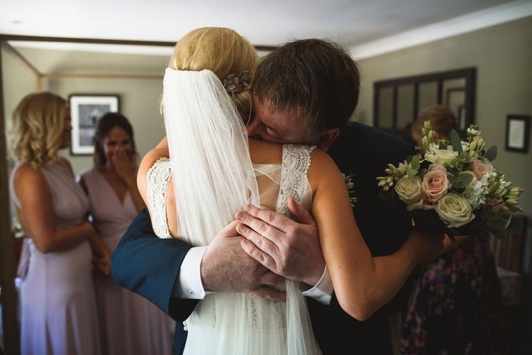 Bride in Flora 'Madlen' Wedding Dress from Blackburn Bridal Boutique