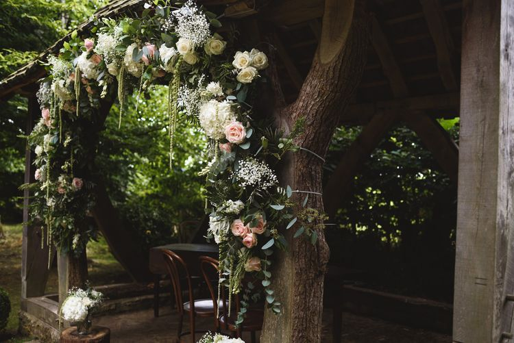 Outdoor Ceremony Floral Arch Altar