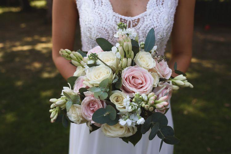 Blush Pink & White Bridal Bouquet