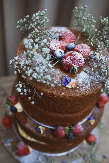 Homemade Naked Chocolate Wedding Cake