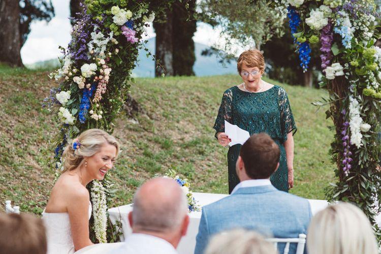 Wedding Reading   Outdoor Wedding at Borgo Bastia Creti in Italy   Paolo Ceritano Photography