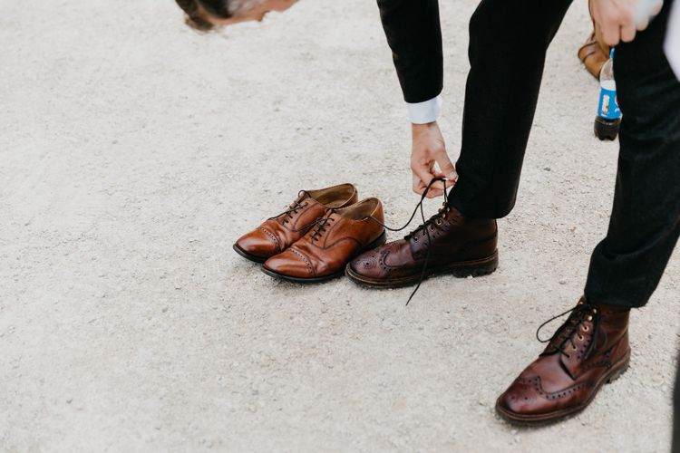 Brown Brogues For Groom