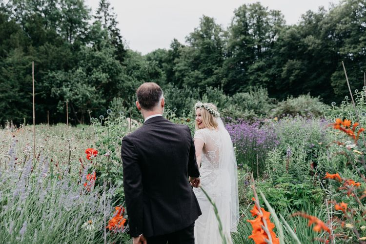 Outdoor Wedding Ceremony At Hatch House With A Botanical Theme Bride In David's Bridal Gown & Images From Siobhan Amy Photography & Film