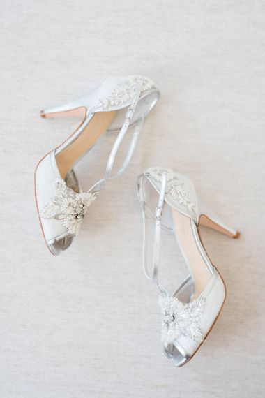 Rachel Simpson Charlotte Shoes | Romantic Pastel Wedding at Prested Hall, Essex | Kathryn Hopkins Photography | Sugar Lens Productions
