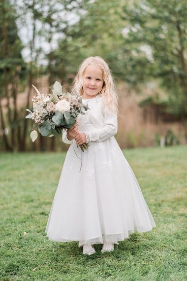 Flower Girl in Debenhams Dress | Romantic Pastel Wedding at Prested Hall, Essex | Kathryn Hopkins Photography | Sugar Lens Productions